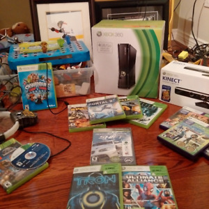 XBOX360 Console, including Kinect & games