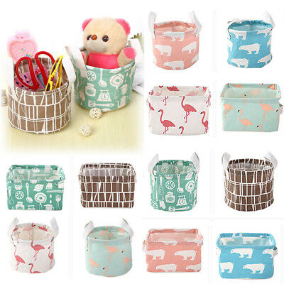 Foldable 11 Colors Storage Bin Closet Toy Box Container Organizer Fabric Basket