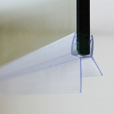 Shower Screen Bath Door Seal Strip   Fits Glass 6-8mm   For Gaps Between 16-26mm