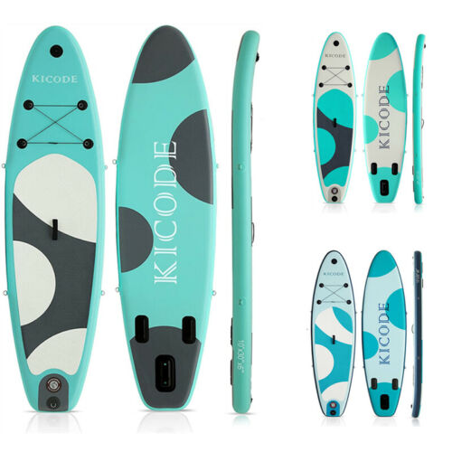 """Inflatable Paddle Board SUP Surfboard 6"""" Thick Premium + Accessories & Carry Bag"""