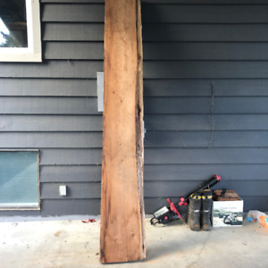 "8'6"" one side live edge red cedar"