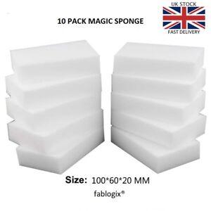Magic Sponge eraser x 10  Melamine Foam sponges Stain Dirt Remover fablogix® UK