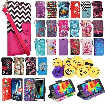 Samsung Galaxy Avant Cell Phone Case Hybrid PU Leather Wallet Pouch Flip Cover ()