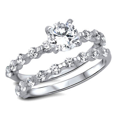 USA Seller Wedding Ring Set Ring Sterling Silver 925 Best Deal Jewelry Size