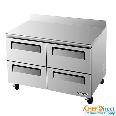 Turbo Air Twr-48sd-d4-n Super Deluxe 48 Four Drawer Worktop Refrigerator