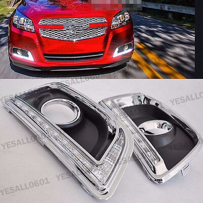 2x LED White Daytime Running Light DRL Drive Lamp for Chevrolet Malibu 2012-2015