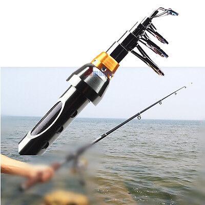 Extended 6.9 FT Portable Carbon Fiber Telescope Fishing Rod Travel Spinning Pole