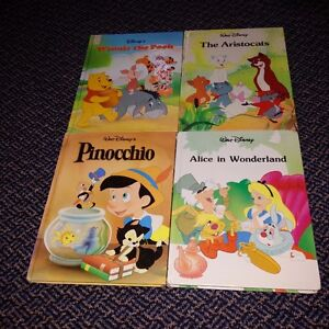 Set of 4 large hardcover Disney story Books