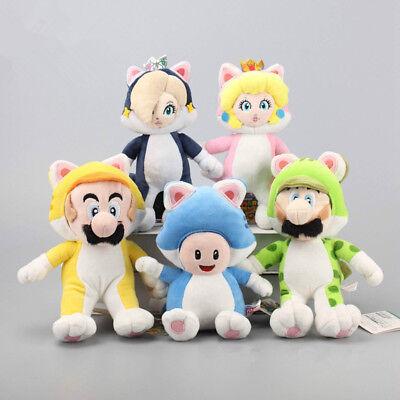 5 Super Mario 3D World Katze Mario Luigi Prinzessin Peach Rosalina Toad Plüsch  ()