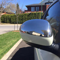 Nissan Juke Chrome Half Mirror Covers - Real Polished Stainless