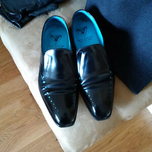 black and turquoise dress shoes by john fleuvog