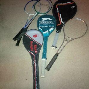 Squash / Tennis / Badminton - total 7 Raquets