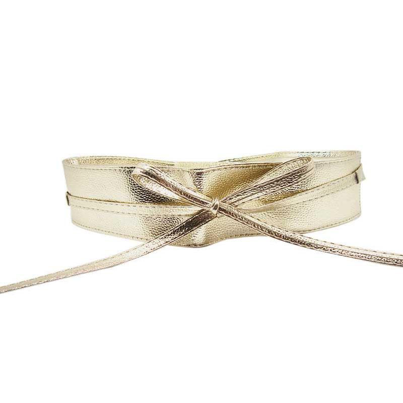 trendy belt soft leather wide self tie wrap around