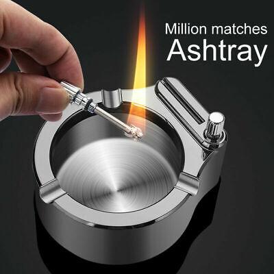 Metal Ashtray Retro Ten Thousand Match Lighter Multifunction Ashtray Durable