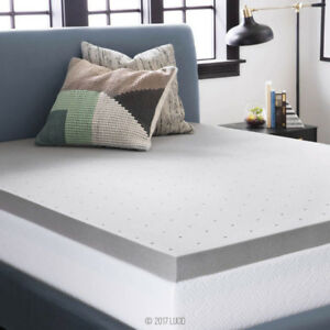 "New Twin XL $159 Value 4"" Bamboo Charcoal Memory Foam Matt"