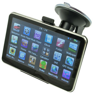 5 Inch Auto Car GPS Navigation Sat Nav 4GB New Map WinCE 6.0 FM Mp3 Mp4