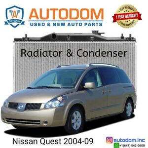 New Condenser and Radiator Nissan Quest 2004-09