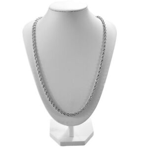 26 inches 18k Stamped Gold Silver Mens Link Rope Chain Necklace