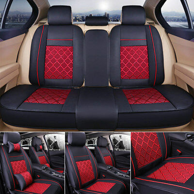US 5 Seat SUV Seat Cover Cooling Mesh Car Cushion Front  Rear wPillows SML