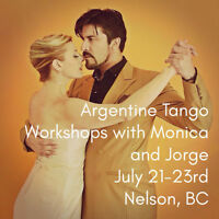 PROFESSIONAL ARGENTINE TANGO WORKSHOPS in NELSON, BC