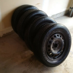 Firestone FR710 Tires On Uplander Rims With 100% Tread Remaining