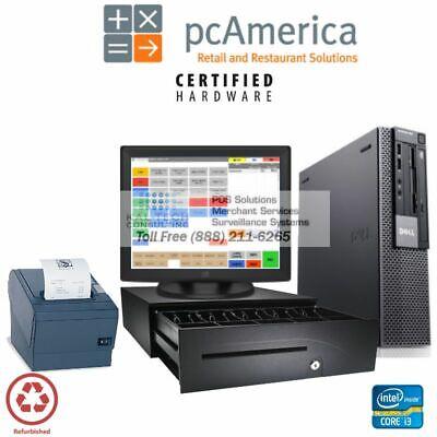 Pcamerica Rpe Cafe Buffet Restaurant Bar Complete Value Pos System I3 Cpu