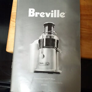 Breville Juice Fountain Plus - Barely Used