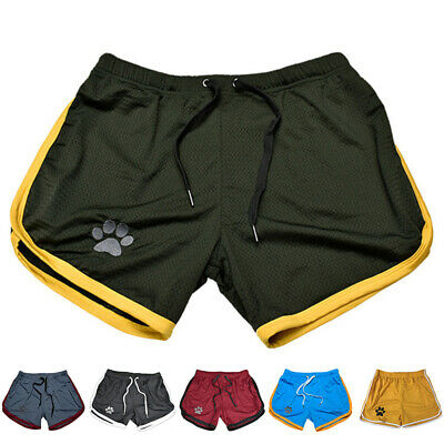 Uomo Pantaloncini Corti Palestra Fitness Jogging Pantaloni da Corsa Si Asciuga