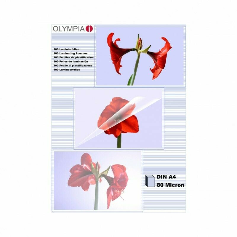 OLYMPIA Laminierfolie 100 X DIN A4 80 Mikron