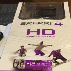 SAFARI 4 HD CAMERA KIT WITH AN EXTRA RECHARGEABLE BATTERY