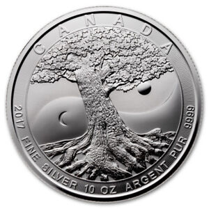 2017 10 oz Silver Canadian Tree of Life in Capsule