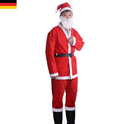Weihnachtsmannkostüm Kostüm Weihnachtsmann Santa Nikolaus mit Bart und (K Und C Kostüme)