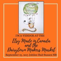 Etsy Made in Canada. September 23, Jubilee Hall Sussex NB