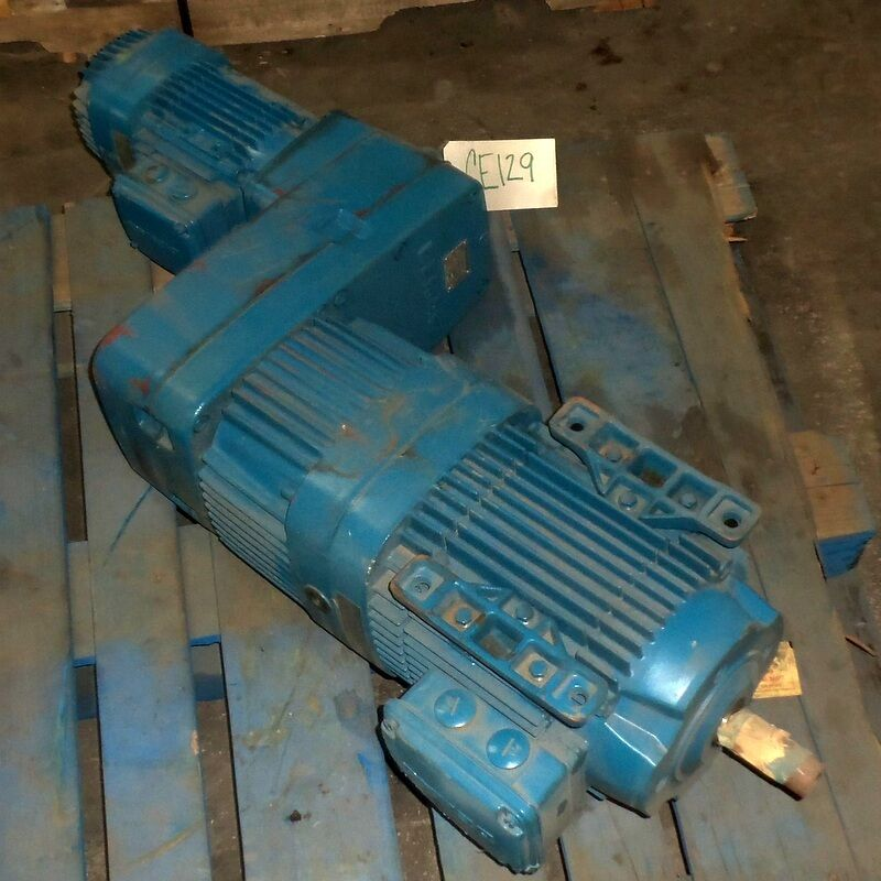 DEMAG 1.6/7.5 HP 7.8:1 RATIO MICROSPEED UNIT FG08-B3-Z1-F1-H1