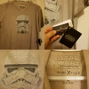 New with tags Star wars Stormtrooper grey tshirt