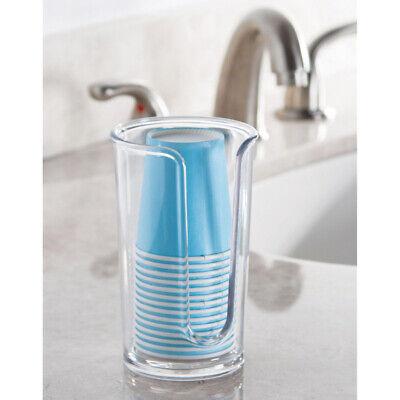 InterDesign  Clarity  Cup Dispenser  5 in. H Clear  Plastic
