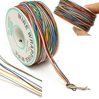 P/N B-30-1000 30AWG Tin Plated Copper 8-Wire Colored Insulation Test Wrapping US Copper Wire Insulation
