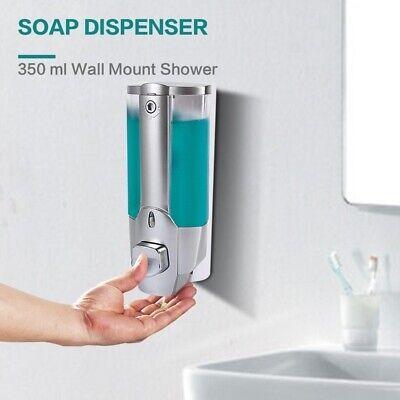 350ml Shower Shampoo Liquid Soap Lotion Dispenser Wall Mounted Bathroom Washroom
