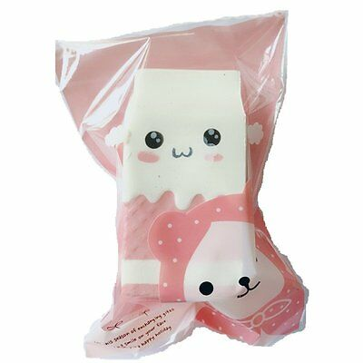 Kawaii Soft Squishy Hottest Jumbo Milk Bag Slow Rising Toy Charms Kids Toy Gift