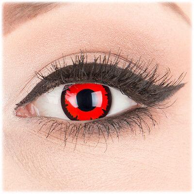 Farbige Jahres Kontaktlinsen Dark Lord Ohne Stärke Fun Crazy Halloween Kostüm ()