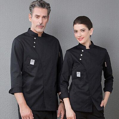 Herren Damen Kochjacke Lange Ärmel Bäcker Kochhemd Kochbekleidung (Koch-hemd)