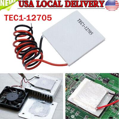 1pc Tec1-12705 Heatsink Thermoelectric Cooler Cooling Peltier Plate Module Us