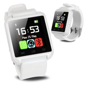 BRAND NEW White Bluetooth Smart Wrist Watch for Android