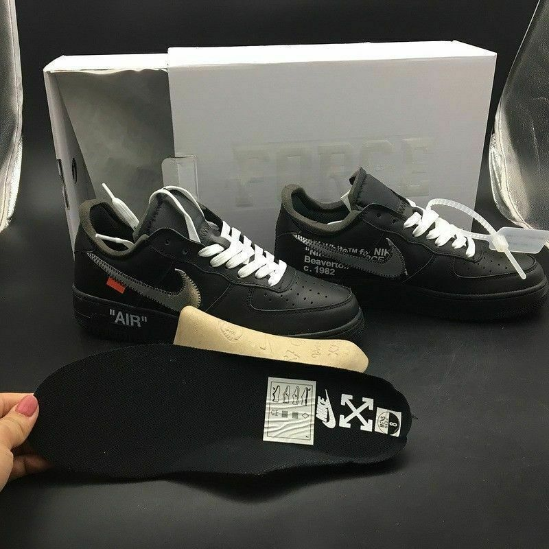 c4dfaf14d14a Nike Off White x Moma Air Force 1 One Low Black (All Sizes Available) -  FREE UK DELIVERY