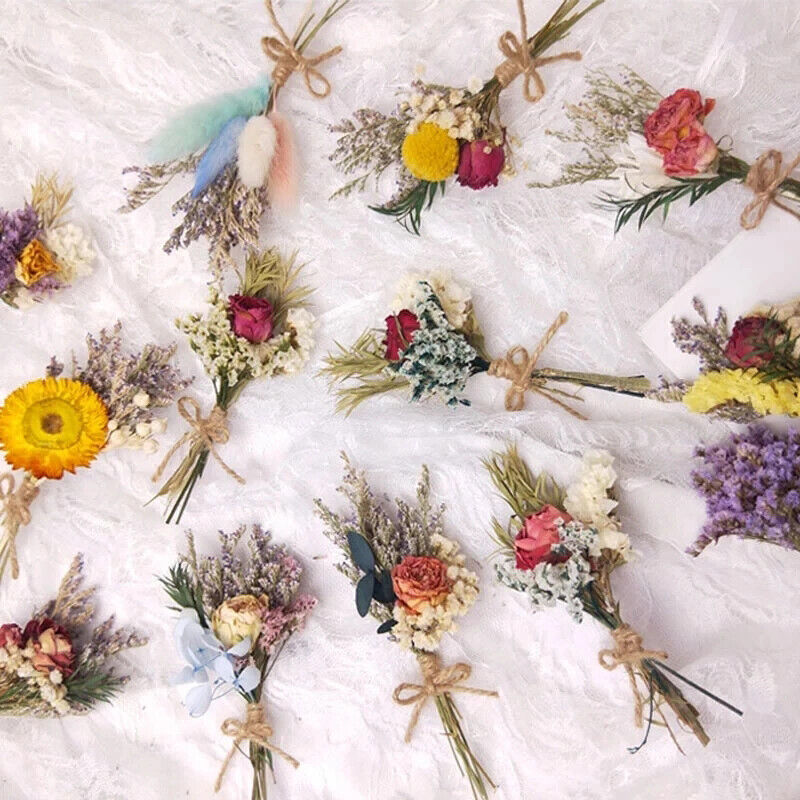 Home Decoration - Real Flowers Mini Natural Dried Flower Bouquet Wedding Home Decoration Creative