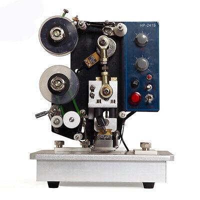 Hp241b Semi-auto Ribbon Printer Adjustable Machine Hot Stamp Coder Foot Switch
