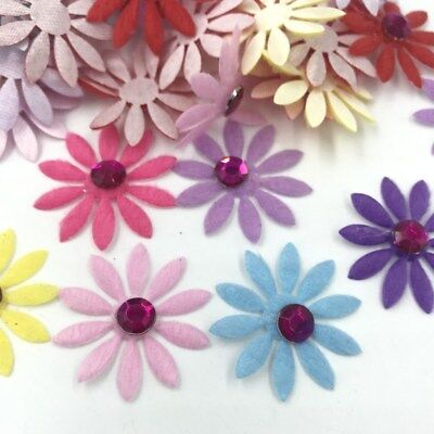 Mix color Rhinestone Felt Appliques Flowers Decorative Scrapbooking 33mm - Felt Flowers Diy