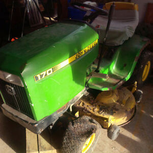 "John Deere 170 with 38"" mower deck for parts"