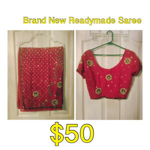Brand New Readymade Saree with Pleats & Petticoat Kitchener / Waterloo Kitchener Area image 1