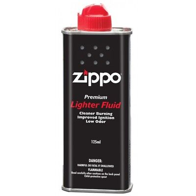 Zippo Lighter Fluid Fuel Petrol 125ml Tin + Free Delivery